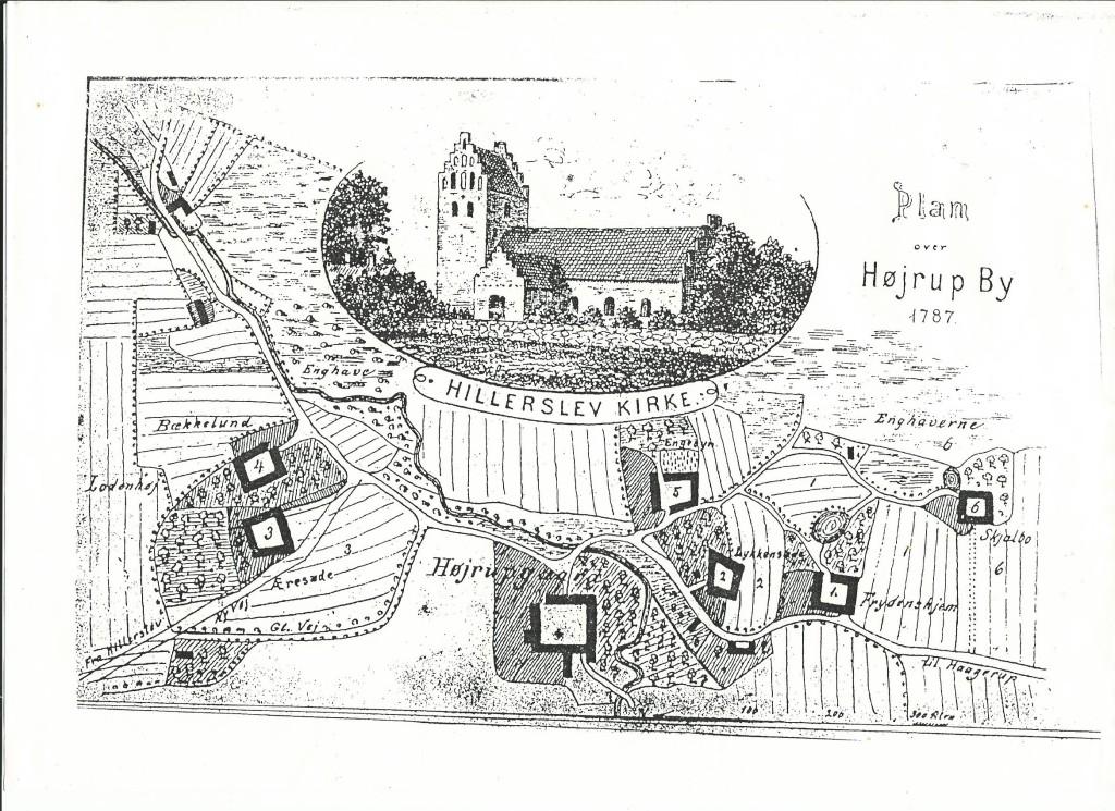 plantegning fra Højrup 1787
