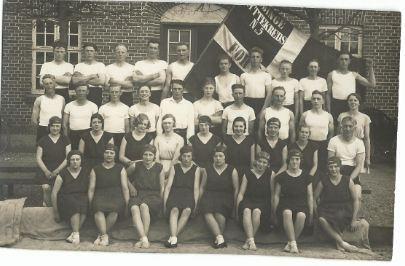 Verner gymnastikopvisning i Vindinge ca 1931
